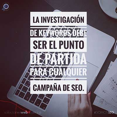 Investigación de palabras claves o keyword research